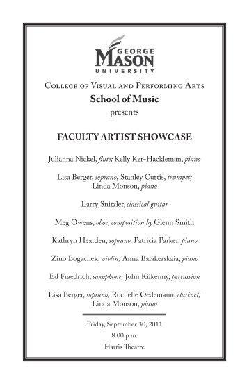 the full program. - George Mason University School of Music