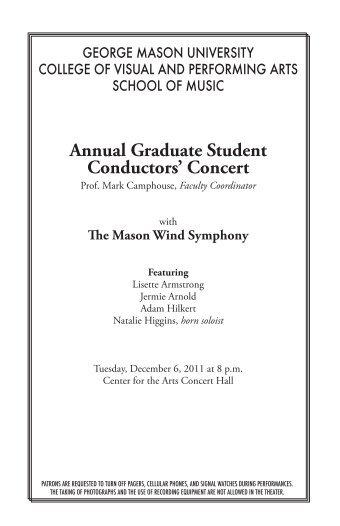 Annual Graduate Student Conductors - George Mason University ...