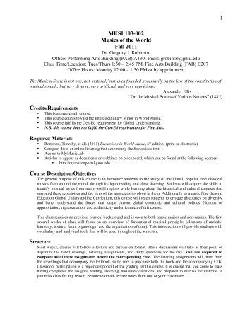 103-002 Robinson Fall 2011 - George Mason University School of ...