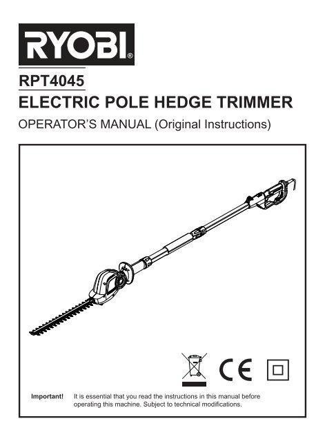 Electric Pole Hedge Trimmer Produktinfo Conrad Com