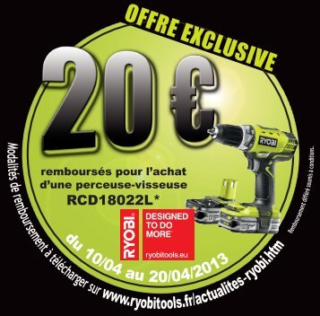 OFFRE EXCLUSIVE - Ryobi