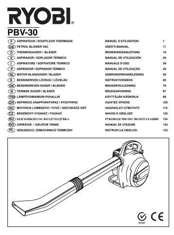 Ryobi Rlt30cd Manual
