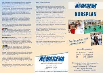 KURSPLAN - Aquarena Fitness & Wellness