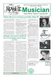 Musicians Web pages - Nashville Musicians Association