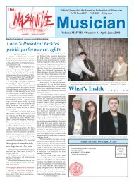 Musicians Jan - 01 - Nashville Musicians Association