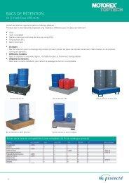 Bacs de rétention en acier et inox - Motorex