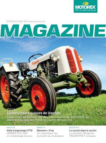 Constructeurs suisses de légende - Motorex