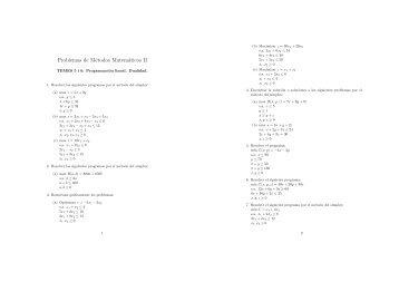 Problemas de Métodos Matemáticos II