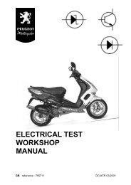 Peugeot electrical test workshop manual (755711) - Scootergrisen