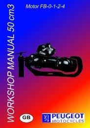 Peugeot motor FB-0-1-2-4 workshop manual 50 cm3 - Scootergrisen