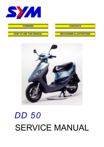 General service and repair manual for 50-250cc scooters.