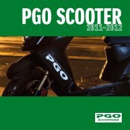 PGO scooter katalog 2011-2012 - Scootergrisen