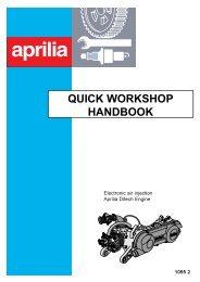 Aprilia Ditech quick workshop manual - Scootergrisen