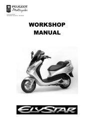 Peugeot workshop manual Elystar (756445) - Scootergrisen