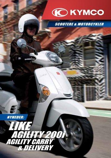 Kymco scootere og motorcykler katalog 2012 - Scootergrisen