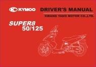 Kymco Super 8 brugermanual - Scootergrisen