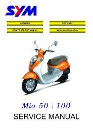 Sym Mio servicemanual - Scootergrisen