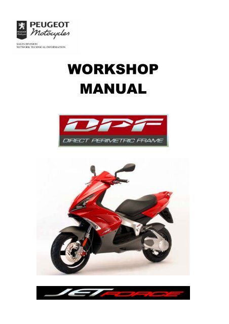 Peugeot Workshop Manual Jet Force 756739 Scootergrisen