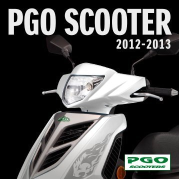 PGO scooter katalog 2012-2013 - Scootergrisen