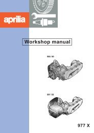 Aprilia MA MY 50 Workshop manual - Scootergrisen