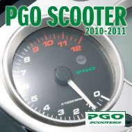 PGO scooter katalog 2010-2011 - Scootergrisen