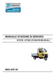 Piaggio Ape servicemanual (tysk) - Scootergrisen