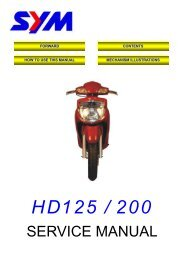 Sym HD 125/200 servicemanual - Scootergrisen