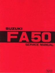 Suzuki FA50 servicemanual (english) - Scootergrisen