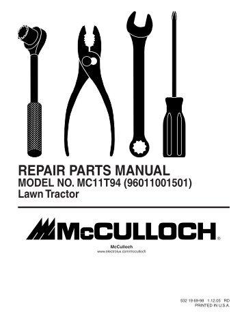 mcculloch 3540p manual