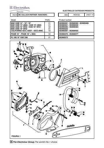 McCulloch MAC CAT 2.3ci (38cc) Parts List 223344-01