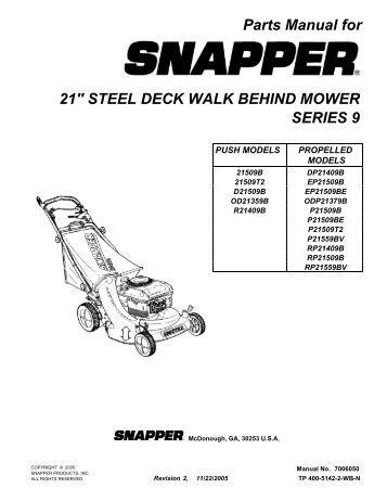 Walker Mower Repair manual