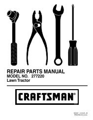 repair parts manual model no. so14538lt 14.5 hp