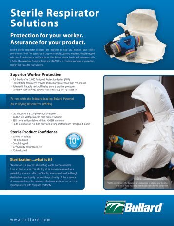 Sterile Respirator Solutions - Bullard