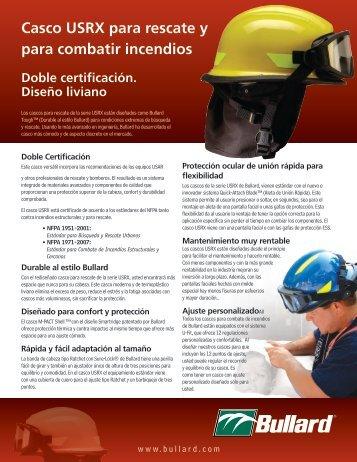 Casco USRX para rescate y para combatir incendios