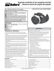 Respirador purificador de aire energizado serie EVA ... - Bullard