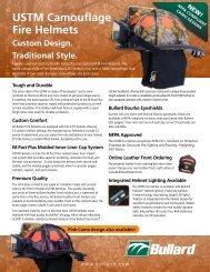 USTM Camouflage Fire Helmets Custom Design - Bullard