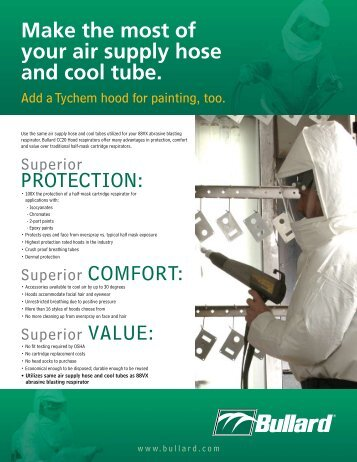 Make The Most Of Your Air Supply Hose And Cool Tube Bullard