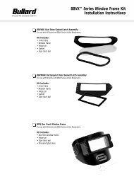 88VX™ Series Window Frame Kit Installation Instructions - Bullard