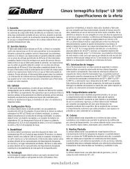 www.bullard.com Cámara termográfica Eclipse® LD 160 ...