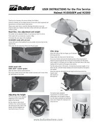 USER INSTRUCTIONS for the Fire Service Helmet ... - Bullard