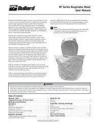 RT Series Respirator Hood User Manual www.bullard.com
