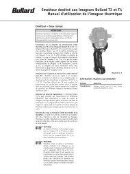 Emetteur destiné aux imageurs Bullard T3 et T4 Manuel d'utilisation ...