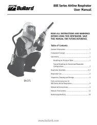 88E Series Airline Respirator User Manual - Bullard