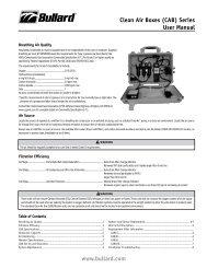 Clean Air Boxes (CAB) Series User Manual www.bullard.com