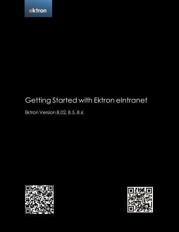 Getting Started with Ektron eIntranet