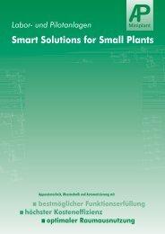 Labor- und Pilotanlagen Smart Solutions for Small  Plants