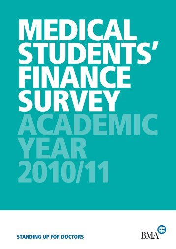 medical students' finance survey academic year - BMA