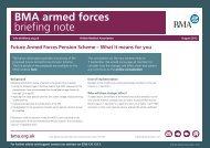 Future Armed Forces Pension Scheme - BMA