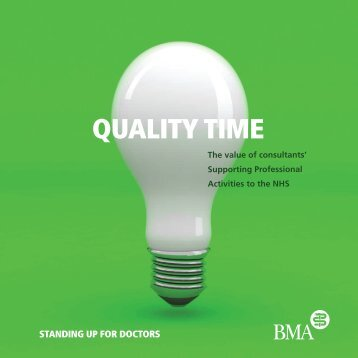 Quality time: The value of consultants - BMA