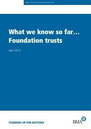 Foundation trusts - BMA